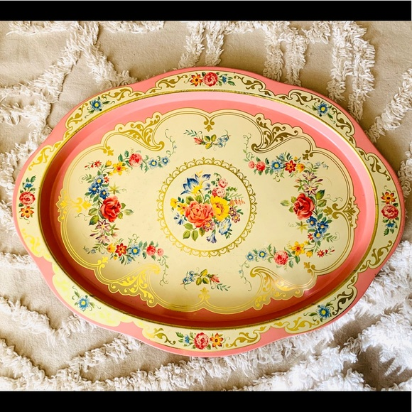 Daher Decorated Ware Oval Metal Tray From Holland